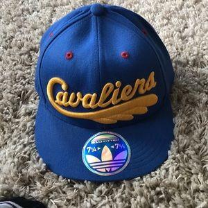 Cleveland cavaliers throw back flat brim hat